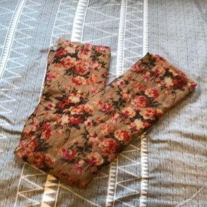 Brown Floral Scarf Kismet